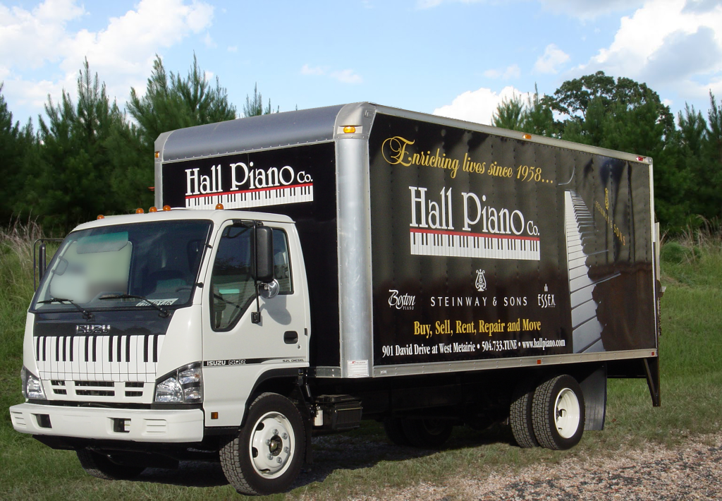 Piano Moving, New Orleans, Isuzu Delivery Truck Picture - Hall Piano Company