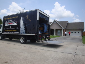 Steinway, Metairie, Moving Truck In Front Of House Photo - Hall Piano Company