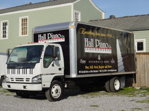 Steinway Grand Piano, New Orleans, Delivery Truck Photo - Hall Piano Company