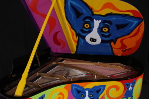 Blue Dog Pianos For Sale In New Orleans Picture - Hall Piano Company